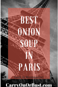 Share the best french onion soup in Paris (Well, Montmartre)