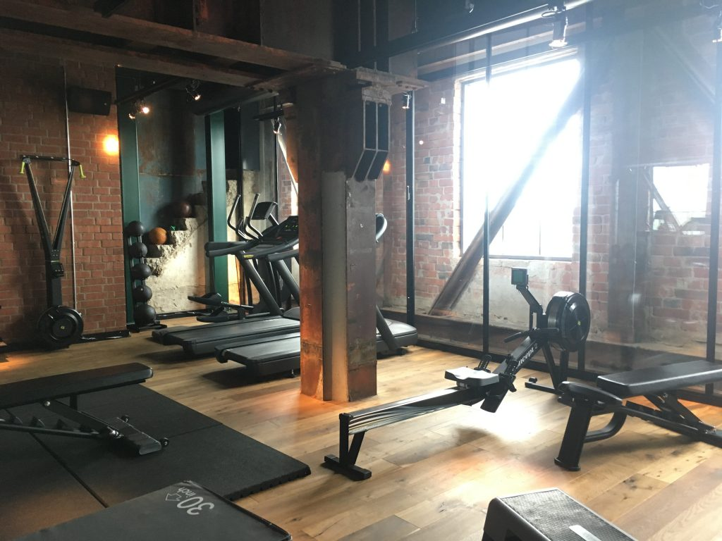 indoor gym at the steam hotell Västerås
